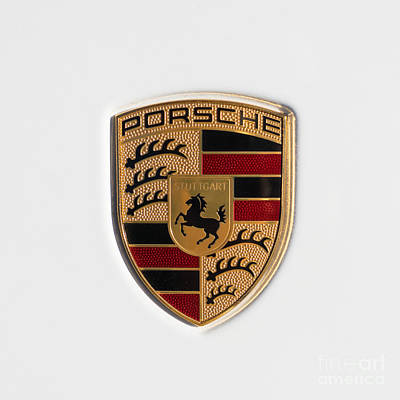 Photograph - Porsche Emblem Dsc2483 Square by Wingsdomain Art and Photography