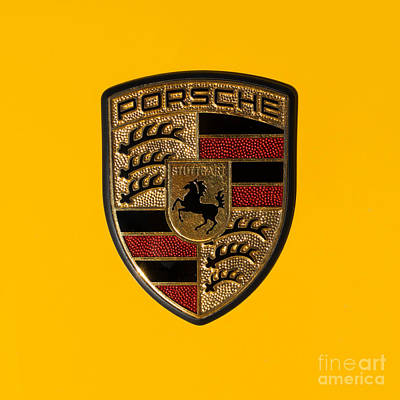 Porsche Emblem Dsc2484 Square Art Print by Wingsdomain Art and Photography