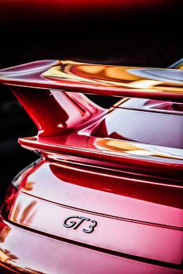 Photograph - Porsche Gt 3 Emblem -1577c by Jill Reger
