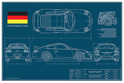Automotive Digital Art - Porsche Gt3 911/type 997 by Douglas Switzer