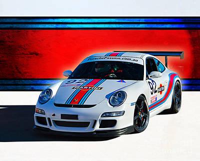 Porsche Gt3 Martini Art Print