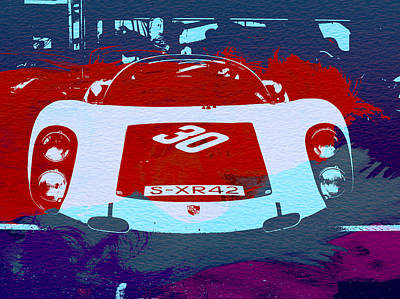 Vintage Cars Painting - Porsche Le Mans Racing by Naxart Studio