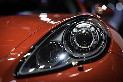 Headlight Photograph - Porsche Panamera Gts by Sebastian Musial