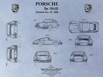 Fast Mixed Media - Porsche Patent by Dan Sproul