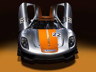Photograph - Porsche Silver Colour by Radoslav Nedelchev