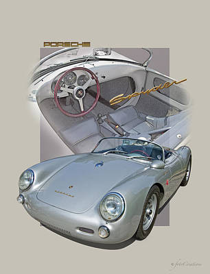 550 Digital Art - Porsche Spyder 550 by Roger Beltz