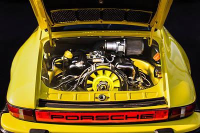 Photograph - Porsche Taillight Emblem - Engine -0003c by Jill Reger