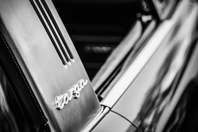 Photograph - Porsche Targa 911s Emblem -1177bw by Jill Reger