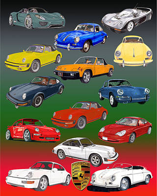 Painting - Porsche Times Fourteen by Jack Pumphrey