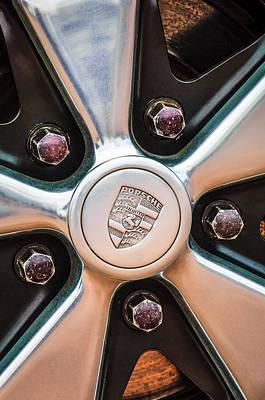 Porsche Logo Photograph - Porsche Wheel Emblem -0660c by Jill Reger