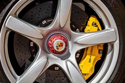 Photograph - Porsche Wheel Emblem -0997c by Jill Reger