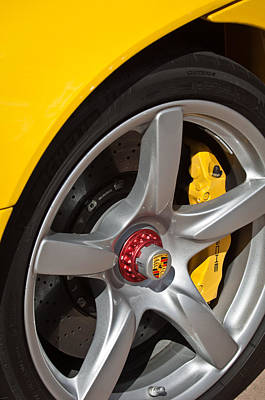 Photograph - Porsche Wheel Emblem -1002c by Jill Reger