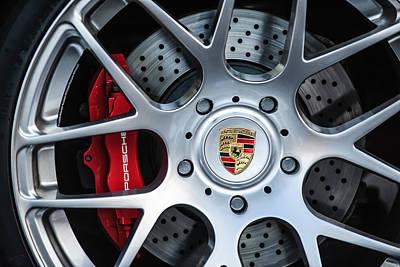 Porsche Logo Photograph - Porsche Wheel Emblem -1323c by Jill Reger
