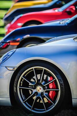 Photograph - Porsche Wheel Emblem -2074c by Jill Reger