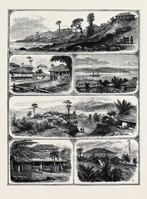 Art Ross Drawing - Port Blair, Andaman Islands by English School