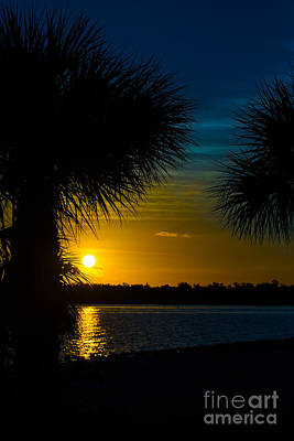 Port Charlotte Beach Sunset In January Art Print by Anne Kitzman