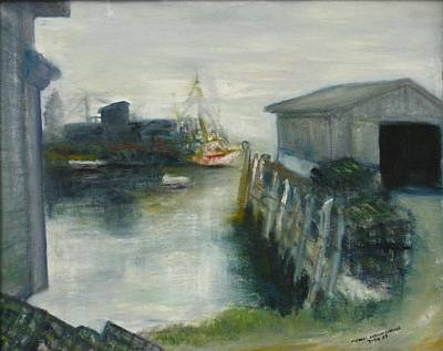 Painting - Port Clyde In Fog by Michael Anthony Edwards
