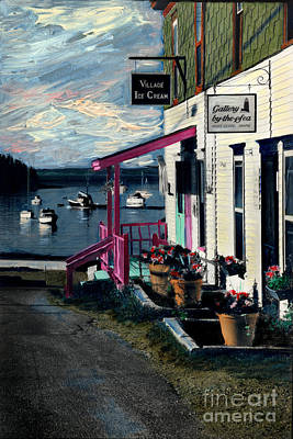 Painting - Port Clyde Main Street by Cindy McIntyre