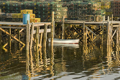 Coastal Maine Photograph - Port Clyde Maine Small Boat And Harbor by Keith Webber Jr