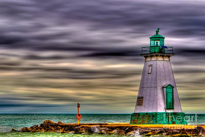 Art Print featuring the photograph Port Dalhousie Lighthouse by Jerry Fornarotto