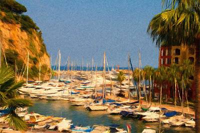 Painting - Port De Fontvieille by Jeffrey Kolker