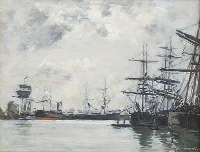 Bassin Painting - Port De Mer Un Bassin by Celestial Images
