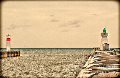 Photograph - Port Dover Lighthouse by Les Palenik