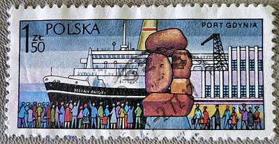 Photograph - Port Gdynia - Poland - Ship by Patricia Januszkiewicz