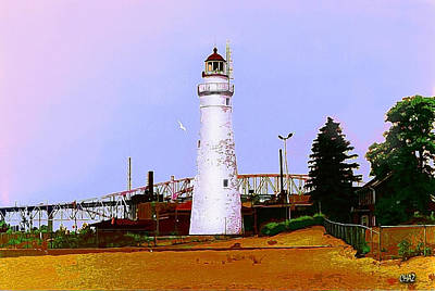 Clouds Rights Managed Images - Port Huron Light Royalty-Free Image by CHAZ Daugherty