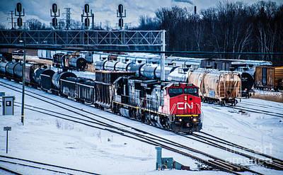 Photograph - Port Huron Train Yard by Ronald Grogan