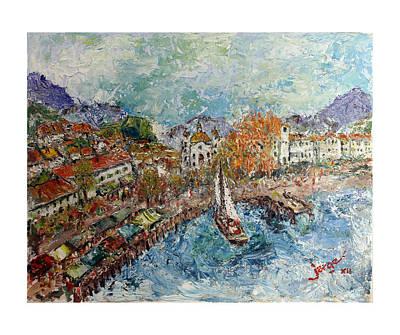 Port In The Adriatic Original by Jorge Garza