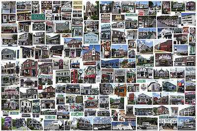 Photograph - Port Jefferson Photo Collage by Steven Spak