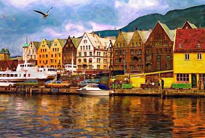 Boat Photograph - Port Life Watercolor by Steve Harrington