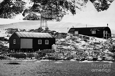 Port Lockroy British Antarctic Heritage Trust Station Buildings Including Nissen Hut Accommodation O Art Print by Joe Fox