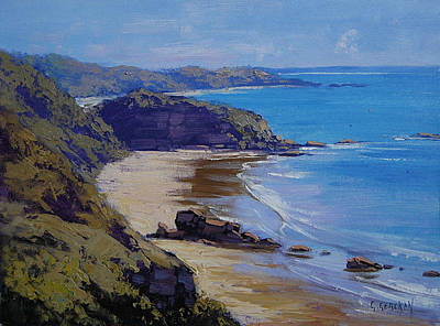 Beach Oil Painting - Port Macquarie Beach by Graham Gercken