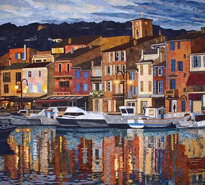 Port Of Cassis Art Print by Lenore Crawford