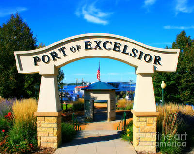 Port Of Excelsior Art Print by Perry Webster