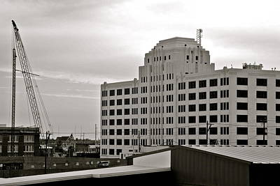 Photograph - Port Of Galveston Building In B And W by Kirsten Giving