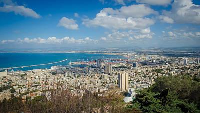 Comedian Drawings - Port of Haifa by David Morefield