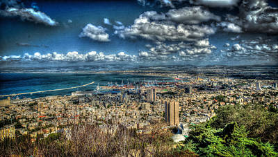 Photograph - Port Of Haifa Hdr by David Morefield