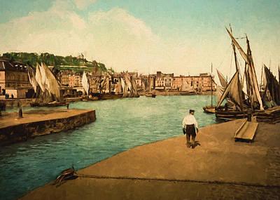 Times Painting - Port Of Honfleur  by John K Woodruff