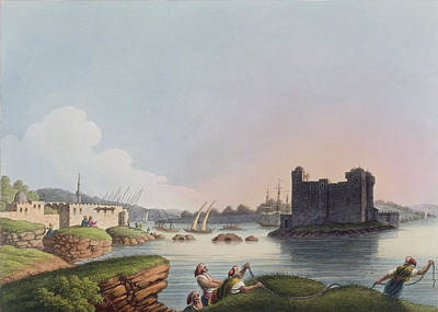 Syria Drawing - Port Of Latachia, In Syria, From Views by Luigi Mayer