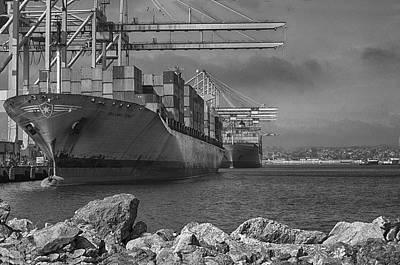 Port Of Long Beach Art Print by Joseph Hollingsworth