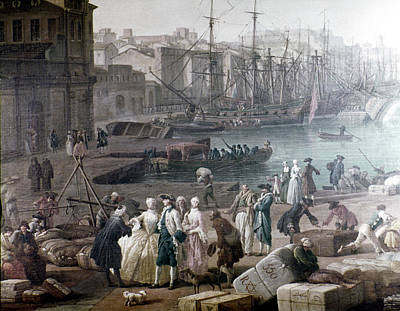 1754 Painting - Port Of Marseilles, 1754 by Granger