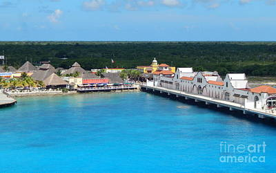 Photograph - Port Of Puerta Maya Cozumel Mexico In The Yucatan  by Michael Hoard
