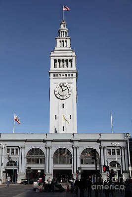 Port Of San Francisco Ferry Building On The Embarcadero - 5d20756 Art Print by Wingsdomain Art and Photography