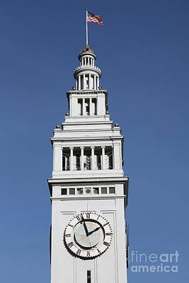 Port Of San Francisco Ferry Building On The Embarcadero - 5d20757 Art Print by Wingsdomain Art and Photography