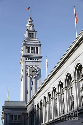 Port Of San Francisco Ferry Building On The Embarcadero - 5d20838 Art Print by Wingsdomain Art and Photography