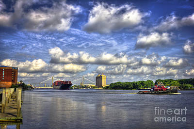 Photograph - Port Of Savannah Shipping by Reid Callaway