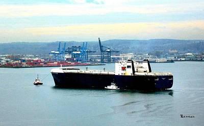 Photograph - Port Of Tacoma Wa Ship 1 by Sadie Reneau